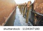 clarifier cisterns system and... | Shutterstock . vector #1134347180
