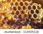 photo of natural honey in... | Shutterstock . vector #113435128