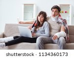 injured family of wife and...   Shutterstock . vector #1134360173