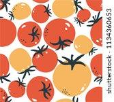 fresh tomatoes  hand drawn...   Shutterstock .eps vector #1134360653
