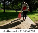 on a walk.  lodz  poland   may... | Shutterstock . vector #1134362780