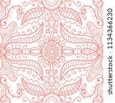 hand drawn seamless pattern ...   Shutterstock .eps vector #1134366230