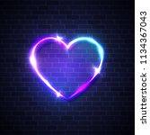 night club heart neon realistic ...   Shutterstock . vector #1134367043