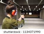 shooting range. shooting with a ... | Shutterstock . vector #1134371990