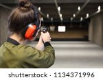 shooting range. shooting with a ... | Shutterstock . vector #1134371996