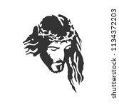 jesus christ. white background.    Shutterstock .eps vector #1134372203
