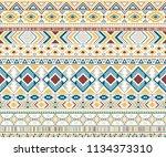 ethnic navajo tribal motifs... | Shutterstock .eps vector #1134373310