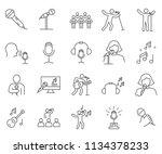 set of singing related vector... | Shutterstock .eps vector #1134378233