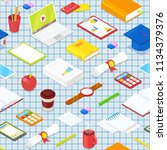 seamless pattern of student... | Shutterstock .eps vector #1134379376
