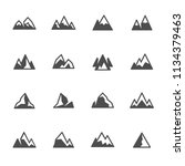 mountains icon set | Shutterstock .eps vector #1134379463