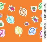 stylized  leaves  lady bugs  ...   Shutterstock .eps vector #1134381323