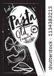 home made italian pasta....   Shutterstock .eps vector #1134383213