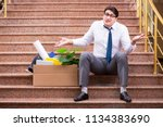 young businessman on the street ... | Shutterstock . vector #1134383690