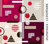 geometric simple seamless... | Shutterstock .eps vector #1134390686