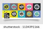 sale sticker or cover banner... | Shutterstock .eps vector #1134391166