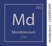 mendelevium md chemical element ...   Shutterstock .eps vector #1134391409
