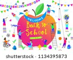 back to school vector... | Shutterstock .eps vector #1134395873