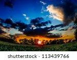 cloudy sunset | Shutterstock . vector #113439766