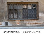 the window with a grating in... | Shutterstock . vector #1134402746