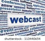 webcast poster design. new... | Shutterstock . vector #113440654