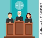 court session. the judges sit... | Shutterstock .eps vector #1134406829