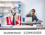 businessman working with... | Shutterstock . vector #1134410333