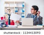 businessman working with... | Shutterstock . vector #1134413093