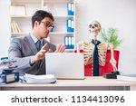 businessman working with... | Shutterstock . vector #1134413096