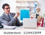 businessman working with... | Shutterstock . vector #1134413099