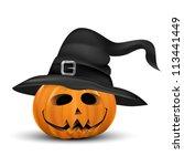 Halloween Pumpkin Realistic...