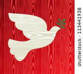 Christmas Wooden Dove Of Peace...