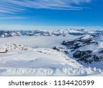 a wintertime view from the... | Shutterstock . vector #1134420599