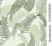 green leaves pattern | Shutterstock .eps vector #1134425693