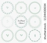 set of hand drawn round frames... | Shutterstock .eps vector #1134430034