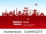 travel around the world concept ... | Shutterstock .eps vector #1134431273