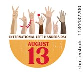 international left handers day. | Shutterstock .eps vector #1134432200