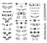 hand drawn vector dividers ... | Shutterstock .eps vector #1134434999