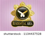 gold badge or emblem with... | Shutterstock .eps vector #1134437528