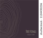 tree rings texture collection.... | Shutterstock .eps vector #1134450236