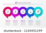 infographic design template.... | Shutterstock .eps vector #1134451199