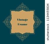 vintage calligraphy ornament... | Shutterstock .eps vector #1134455834