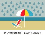 bad and ugly weather during... | Shutterstock .eps vector #1134460394