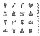 protest icon set | Shutterstock .eps vector #1134466640