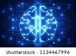 vector abstract artificial...   Shutterstock .eps vector #1134467996