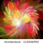 Abstract Red Yellow Fractal...
