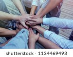 join us team recruitment... | Shutterstock . vector #1134469493