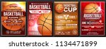 basketball poster set vector.... | Shutterstock .eps vector #1134471899