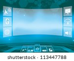 abstract technology background  ... | Shutterstock .eps vector #113447788
