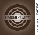 genuine quality wood signboards | Shutterstock .eps vector #1134479840
