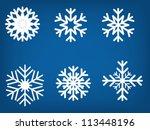 snowflake set vector... | Shutterstock .eps vector #113448196